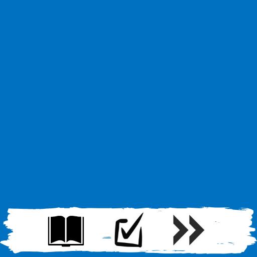 Kategorien - Quadrat (Buch, Haken, Pfeil)