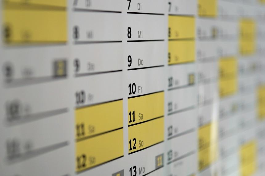 Ein Laufkalender mit festen Terminen motiviert zu laufen.